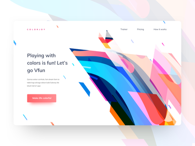 Freebie - Experiment - Colors and Shapes landing page header exploration exploration illustration unique header illustration header color illustration header ui colorful ui