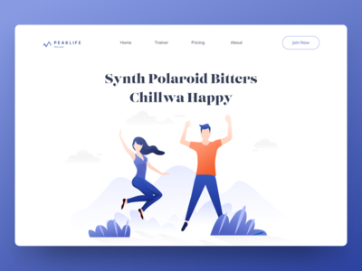 Miscellaneous illustration for Peaklife minimal illustration web illustration header ui landing page flat illustration gradient illustration