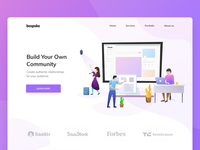 Build your own community | Landing page | Illustration v2 community web illustration header ui landing page flat illustration illustration header illustration