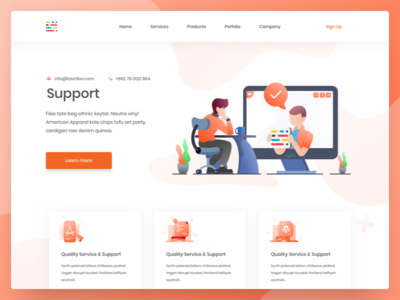 Support page illustration