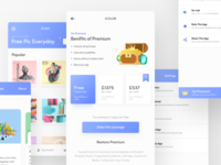 Premium subscription page UI | iColor IOS app