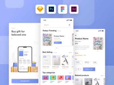 Kamartaj gift shop UI kit | Freebie
