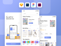 Kamartaj gift shop UI kit | Freebie