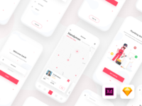 Handyman app UI kit | Adobe XD | Sketch