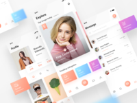 PhotoXia | Photo sharing app UI kit | Sketch | Adobe XD | Figma