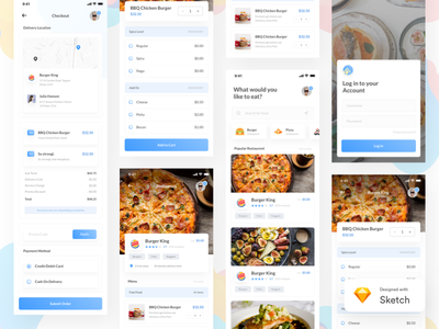 Find Food | Restaurent App concept | Sketch nearby freebie ios app iphone x restaurent app food search food app