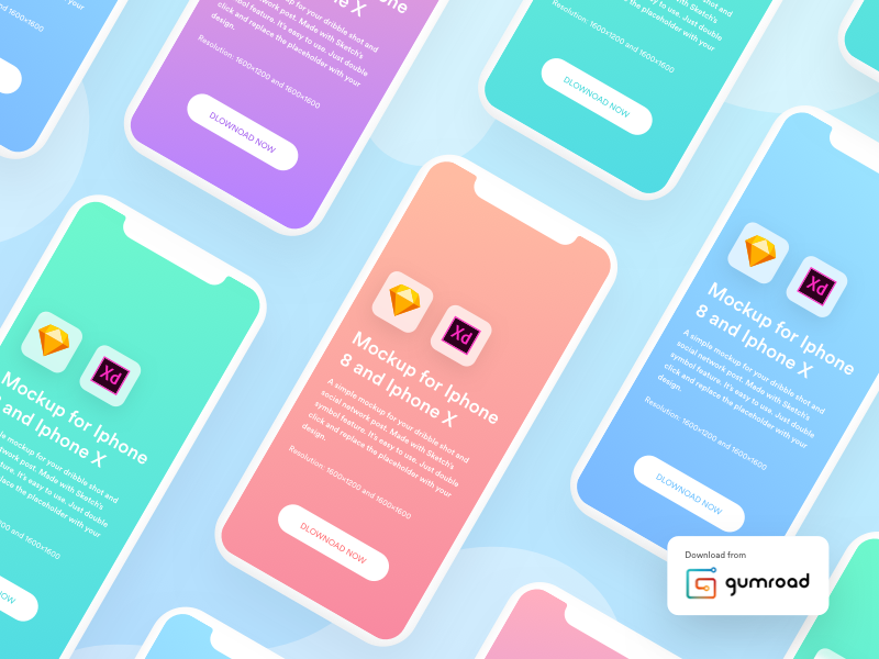 Presentation Mockup kit | Iphone X and Iphone 8 mockup free mockup freebie iphone x mockup iphone mockup sketch mockup xd mockup gumroad sketch symbol