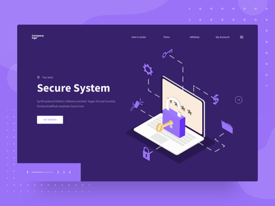 Secure System web design | UI exploration illustration illustration error landing page header ui web illustration server illustration security illustration isometric illustration