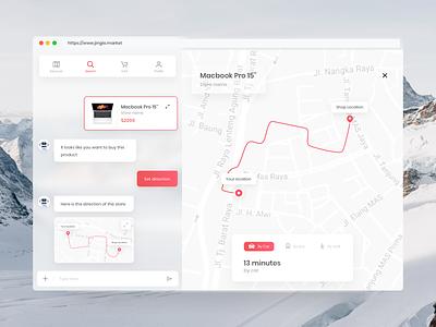 Chatbot app showing direction ai app artificial intelligence desktop app chatbot shop shop app web app chatbot