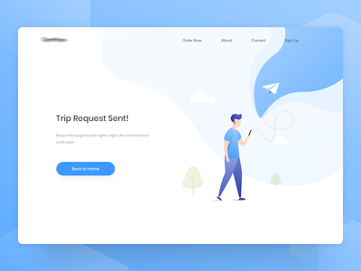 Trip Request sent | Web illustration | Carpool platform header ui minimal ui web design app design ios app app ui illustration landing page ux