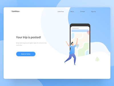 Trip posted | Web illustration | Carpool platform ui animation web illustration minimal ui header ui app ui iphone x illustration landing page app design flat ui ios app