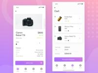 Mobile ecommerce shop | Cart | iphone X