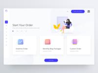 Creative content platform | Dashboard design