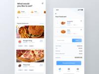 Food finder app UI kit | Cart page | iPhone X