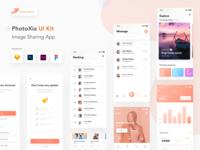 PhotoXia - Image sharing app UI kit