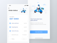 Food finder app UI kit | delivery status page | iPhone X