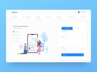 App promotional campaign creation UI