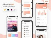 Photoxia - Image sharing app UI kit | On sale