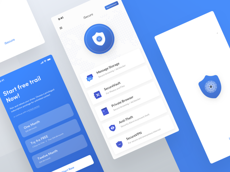 Secure vault app UI | iPhone X by Shojol Islam on Dribbble