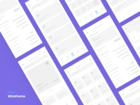 Event app | Wireframe design