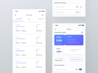 Event tickets and subscription list | Event app UI
