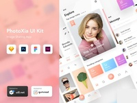 PhotoXia - Image sharing app UI kit | Year ending Sale
