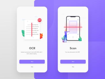 Onboarding illustration for PDF scanner app