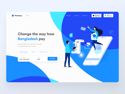 Talktime recharge landing page V2 | Muthopay