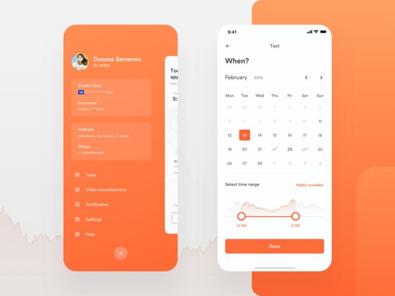 Sidebar and Order filter UI