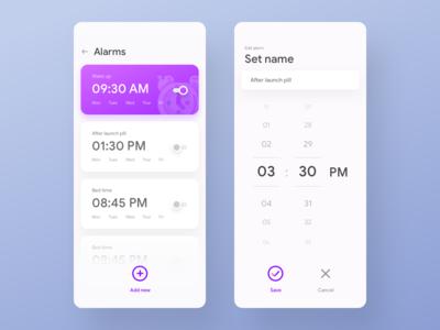 Fun Alarm app UI