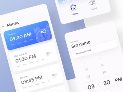 Fun Alarm app UI   Alternative color