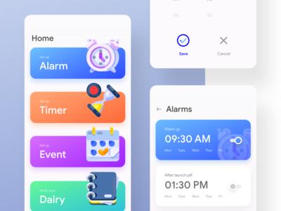 Close look of the fun Alarm app