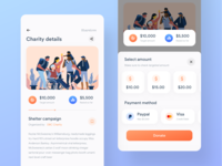 Payment screen | Charity app