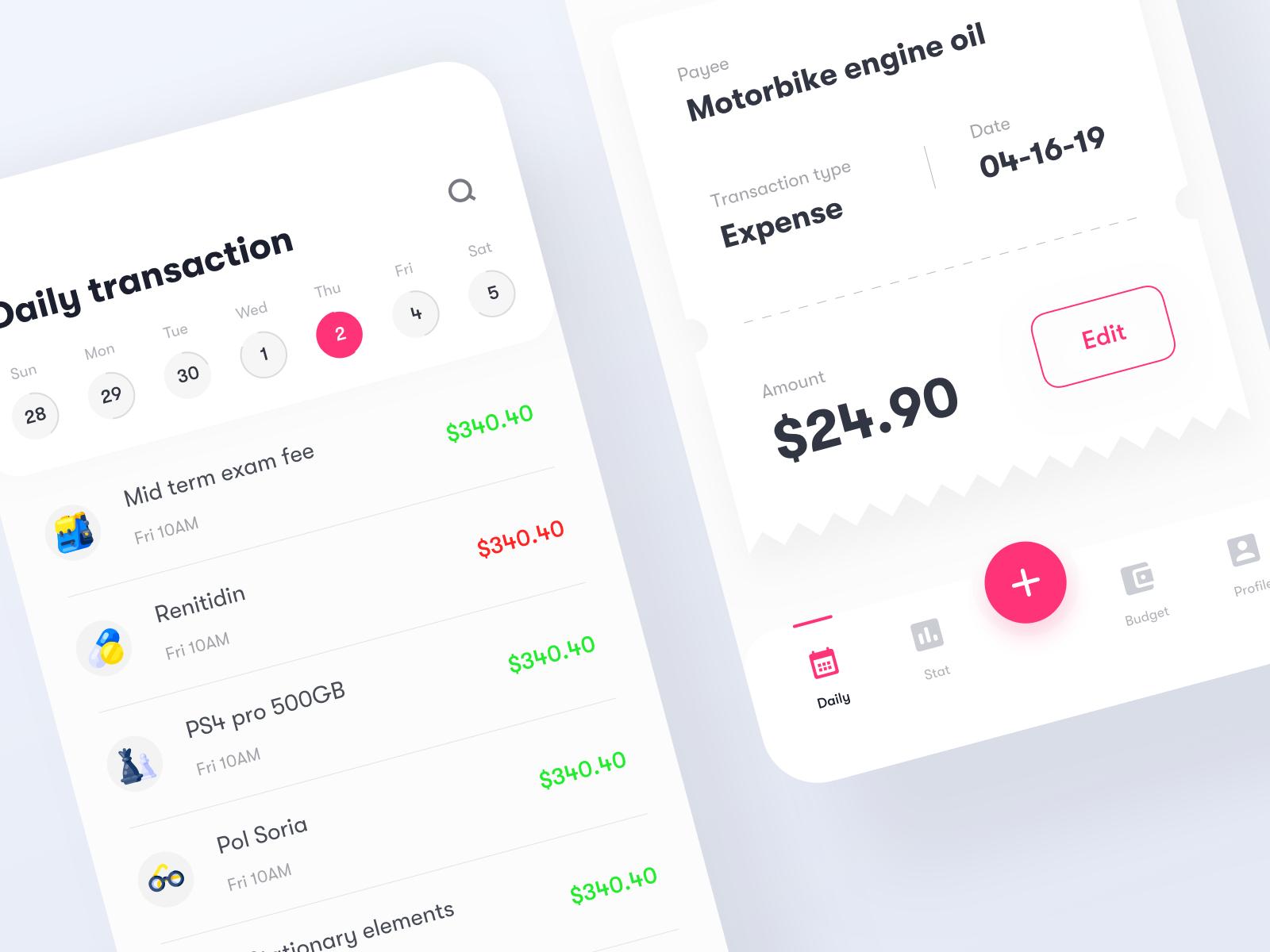 Budget app   dribbble