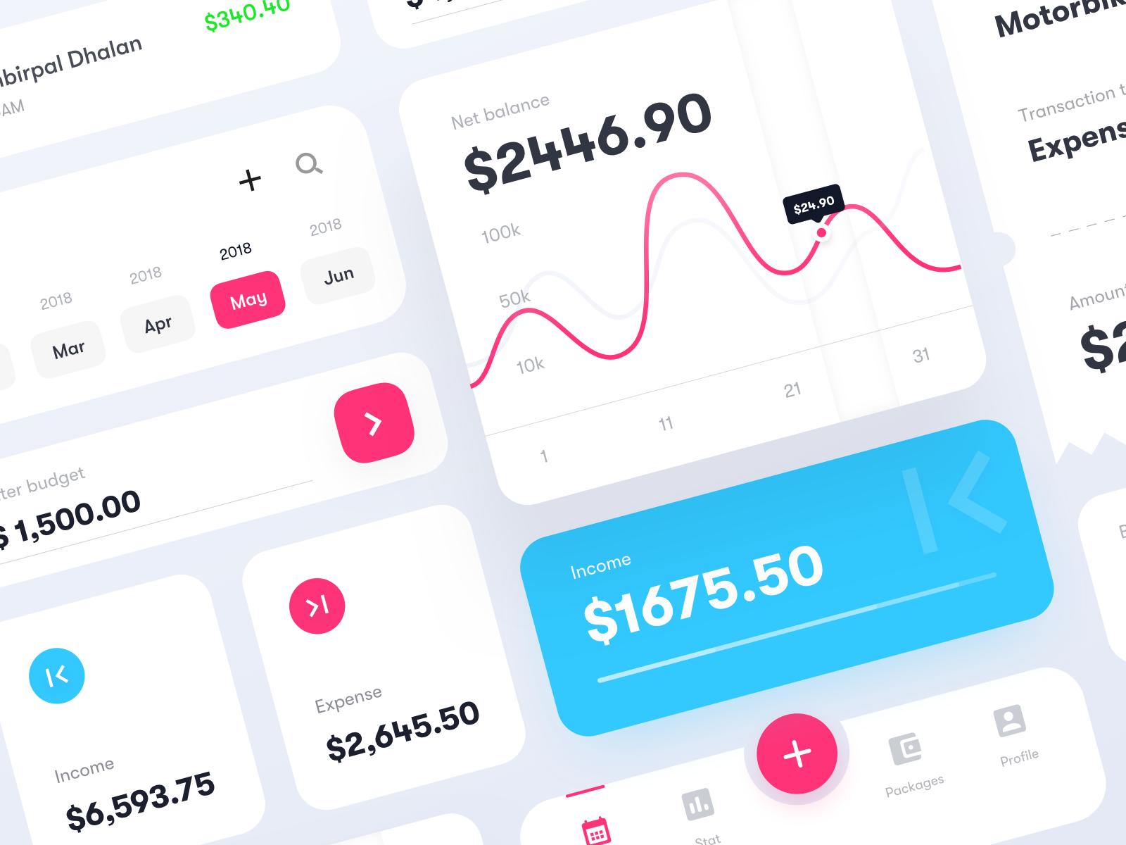 Budget app   dribbble 2