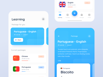 Language learning app appstore mobile app design ui design duo language language learning minimal app ios app language app learning app