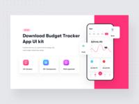 Budget Tracker - Financial app UI kit - Sketch XD Figma