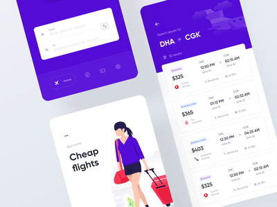 Air ticket mobile app navigation bar nav bar bottom bar flat ui flight result flight ticket ticket search search result app illustration mobile app search ui flight app flight search air ticket app ticket app buy ticket air ticket ios app minimal ui flat app