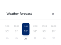 Weather app   forecast expanded