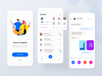 Messaging app rondesign flat ui connect app ios 13 app iphone x minimal ui app design ios app conversation message app event app chat app messenger telegram app telegram