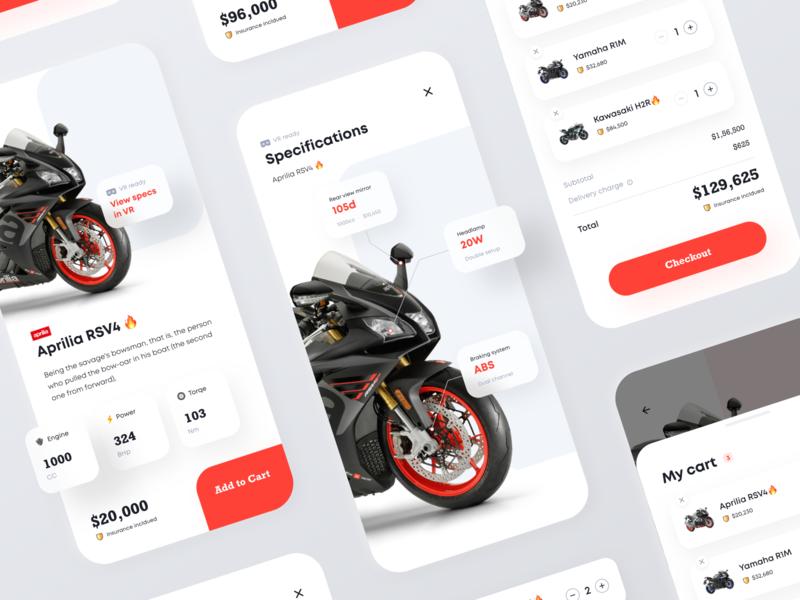 Motorbike VR shop - IOS mobile app