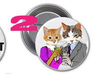 swank kitty pin