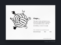 Daily UI Challenge #008 - 404 Page