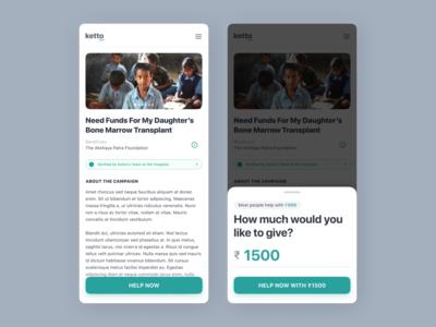 Fundraiser Donation Concept