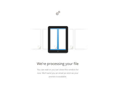 Processing file icon ipad cogs paper sheet web slide