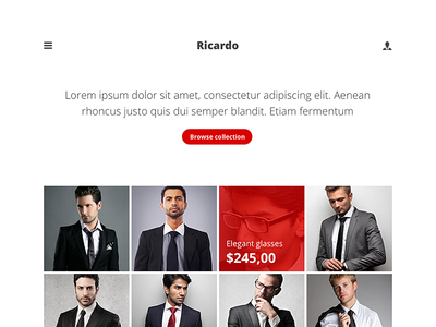 Minimal e-commerce theme