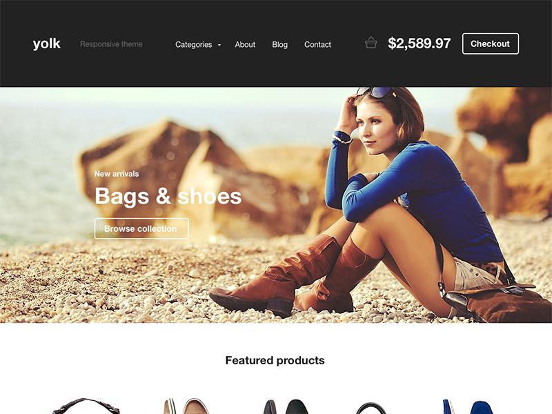 Yolk e-commerce template web website webdesign web desgn ecommerce e-commerce carousel shop store flat minimal