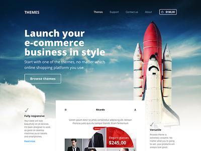 E-commerce themes website web landing landing page themes template theme templates e-commerce shopify ecommerce open sans