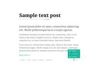 Serif font on Debut