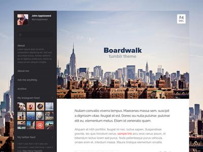 Boardwalk tumblr theme web website boardwalk tumblr theme tumblr theme themes web design webdesign blog